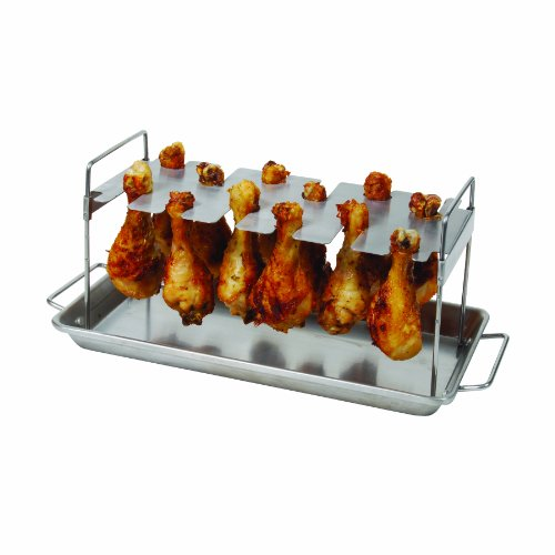 bbq grill chicken leg wing rack 12 slot outdoor cooking. Black Bedroom Furniture Sets. Home Design Ideas