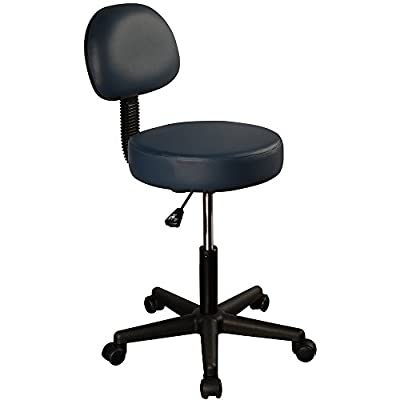 Swivel Masseuse Stool with Backrest