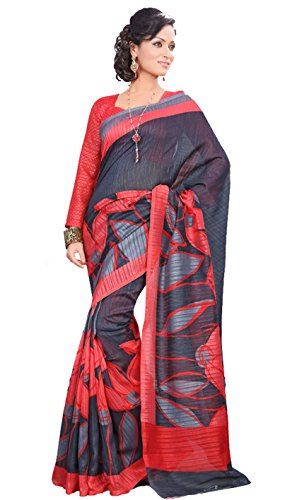 Samskruti Exclusive Printed Party Wear Raw Silk Saree (12034)