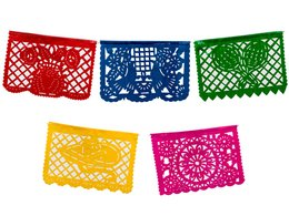 Small Plastic Mexican Banner- Multicolor from Amols Specialty Inc.