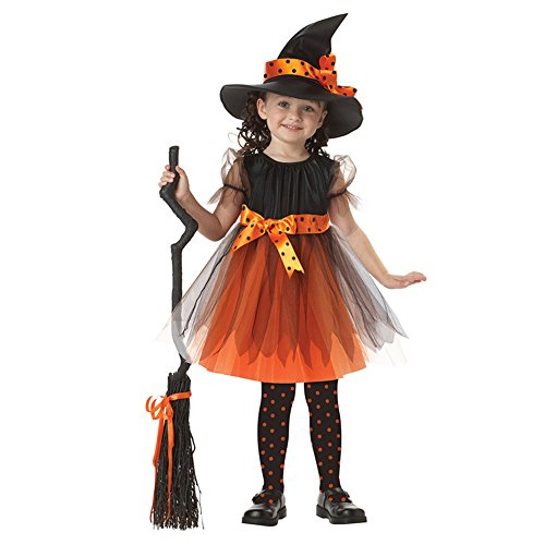 [E-Laurels Children Witch Tutu Cosplay Funny Halloween Costume S] (Homemade Costumes Funny)