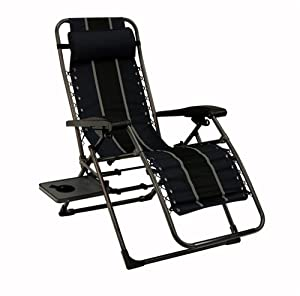 Anti-Gravity Lounger with Side Table