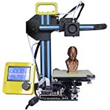 [New Arrival] HICTOP Portable Desktop 3D Printer Net weight Only 7.7lb DIY 3D Printer Kit High Accuracy CNC Self-assembly 130*150*100 mm Printing Size Works with PLA, Rubber, Wood [3DP-13]
