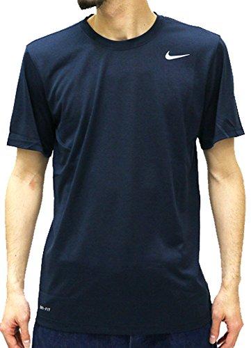 (ナイキ) NIKE Tシャツ メンズ ブランド 半袖 ロゴ ストレッチ ドライフィット 3color M ネイビー