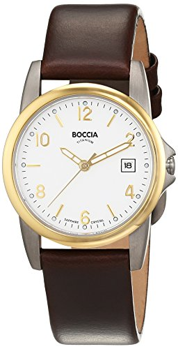Boccia 319-01 Ladies Watch with Leather Strap