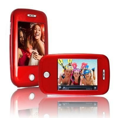 Ematic EM608VIDR 3-Inch Touch Screen 8 GB MP3 Video Player with Built-In 5 MP Digital Camera(Red)