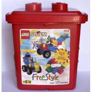 41ePIZT2edL Buy  *RARE* LEGO SYSTEM Free Style Red Bucket. 1997. NEW