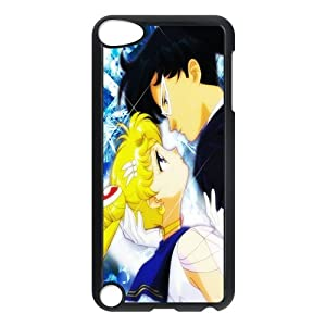 Anime Sailor Moon Usagi Tsukino and Tuxedo Mask Apple iPod Touch 5th Generation Nice Durable Hard Case