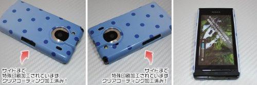 [docomo REGZA Phone T-01C専用]特殊印刷ハードカバー クリアコーティング仕上げ[743ドットグラデーション2(ブルー)]