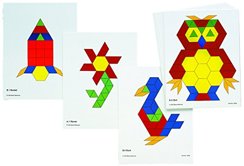 learning-advantage-8837-pattern-block-activity-cards-pack-of-20