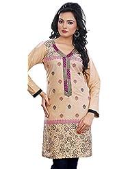 Long Sleeve Cotton Kurti Womens Tunic Top Indian Kurta