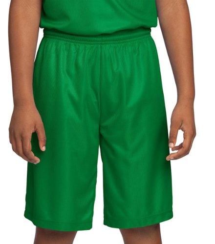 Sport-Tek Youth Comfortable Athletic Reversible Short_Kelly Green_Medium front-267450