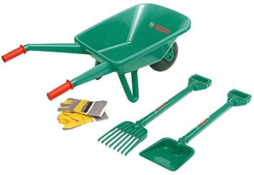 Bosch - Set de jardinería con carrito de jardinero, 4 piezas (Theo Klein 2752)