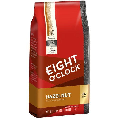 Eight O'Clock Hazelnut Ground Coffee, 11-Ounce Bags (Pack of 6)