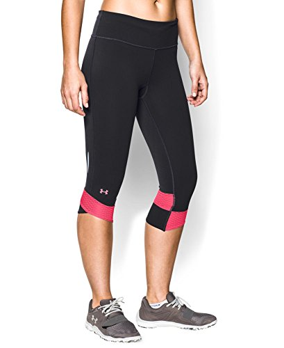Under Armour Women's UA Fly-By Compression Capri Medium Black (Under Armour Capri Workout Pants compare prices)