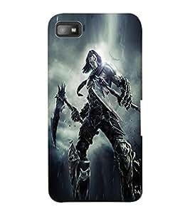 ColourCraft The Demon Design Back Case Cover for BLACKBERRY Z10