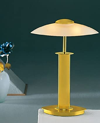 6243 Halogen table lamp - satin white, polished brass/brushed brass, 110 - 125V (for use in the U.S., Canada etc.)