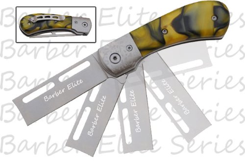 """Pk-844Yp Action L9Y5Yip5Xd Assisted Yi9Fh Barber'S Elite Straight Razor 3.5"""" Yellow Pearl Ghkdiwiy 2334Rtyui Gbh Action Tii31Lsc6S Assisted In7Mopjigs Barber'S Elite Straight Razor - Yellow Pearl Handle.Measures 6 """" Overall.Razor Sharp Silver Blade 2.5"""" L"""
