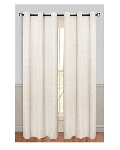 Cay Trading Set of 2 Dainty Home 2-Piece Textured Window Panels, White
