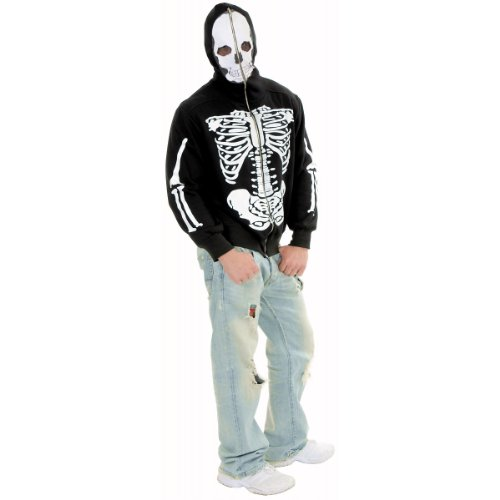 Skeleton Hoodie Costume - Large - Chest Size 42
