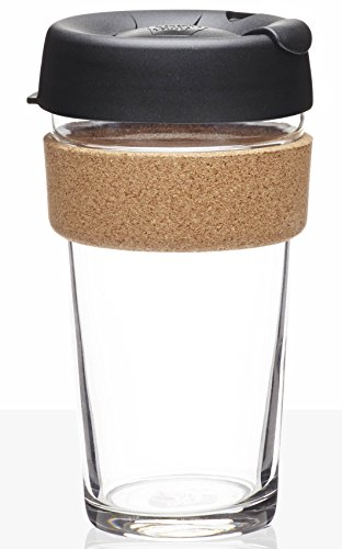 KeepCup Brew Glass Reusable Coffee Cup, 16 oz, Espresso (Coffee Cup With Lid Reusable 16oz compare prices)