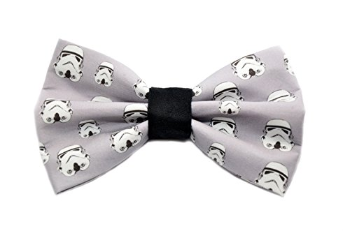 Storm Trooper Bow Tie with Adjustable Strap Adult Kid and Toddler Sizes Available (Quirky Ties compare prices)