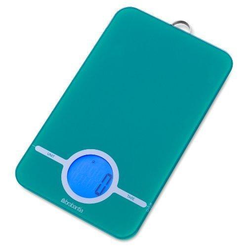 Brabantia 482564 Balance de Cuisine Digitale Gamme Essential Caribbean Blue