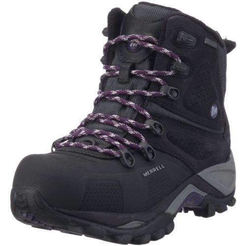 Merrell Whiteout 8 Waterproof Women's Boot Black/BLACK/PURPLE UK 4