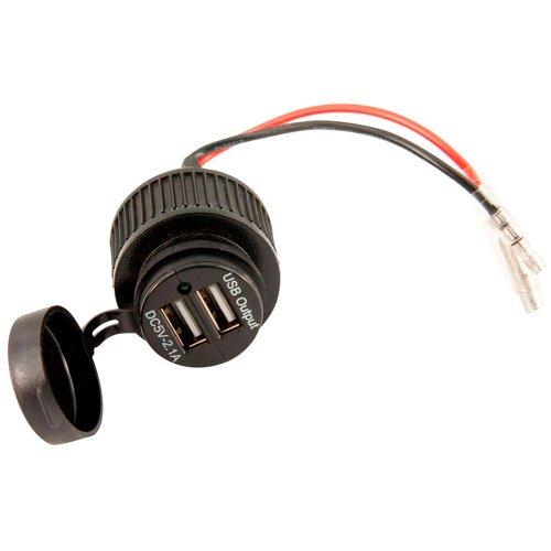 AutoStyle ER-SA1093 USB-Adapter 2x USB 5V-21A/Eingangsleistung 12V, Schwarz