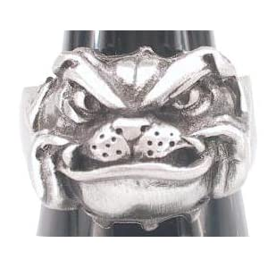 Cool Pet Bulldog Bull Dog Companion Pewter Ring, Size 10