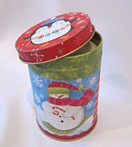 "Hand Poured Tin Can 4.25x3"" Soy Wax Candle, Snowman Christmas, Unscented"
