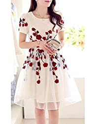 Universal Creation fancy Cream Semi-stitched Dress Material