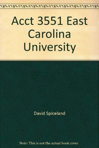 Acct 3551 East Carolina University