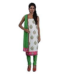 Mumtaz Sons Women's Cotton Unstitched Dress Material (MS111418A,Green)