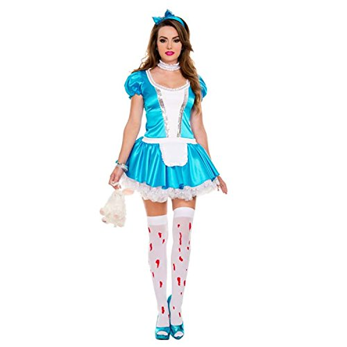 Sexy4Lady Women's Alice Wonderland Costume