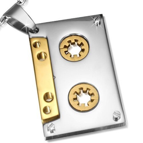 urban-hq-stainless-steel-cassette-tape-pendant-supplied-on-a-20-chain-necklace
