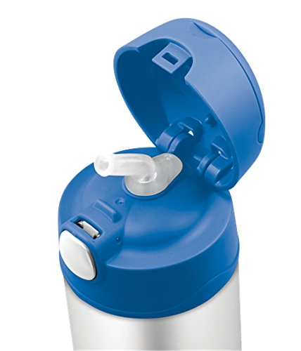 Nắp Bình giữ nhiệt trẻ em Thermos 12 Ounce Funtainer Bottle, Blue - 350ml