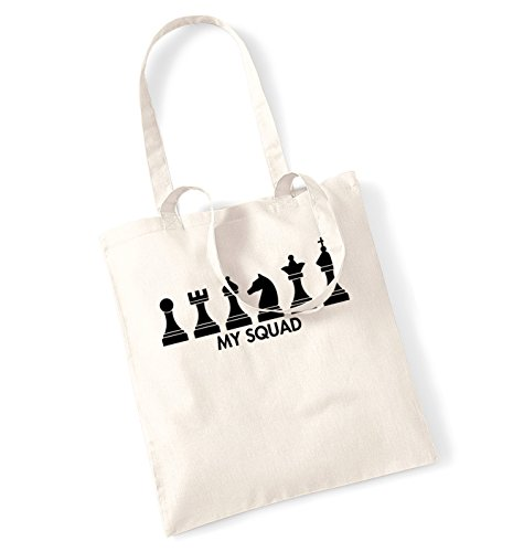 Chess pieces my squad tote bag