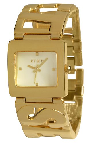 Jet Set J58568-742 - Orologio da polso donna, acciaio inox, colore: Oro