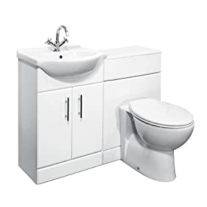 650mm Vanity Unit With Basin and Toilet with 600mm Wide Toilet Unit       reviews and more information