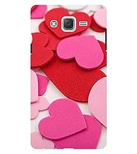 Chiraiyaa Designer Printed Premium Back Cover Case for Samsung Galaxy On7 (heart boy girl friend valentine miss kiss pattern) (Multicolor)
