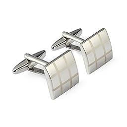 ALASKA BEAR - Classic Silver Cufflinks Set for French Sleeve Dress Shirts (#001)