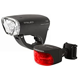 SIGMA TRILED / CUBERIDER Front and Rear Light Set: Sports & Outdoors