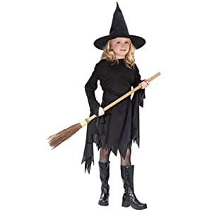 Classic Witchy Witch Black Child Costume Medium (8-10): Toys & Games