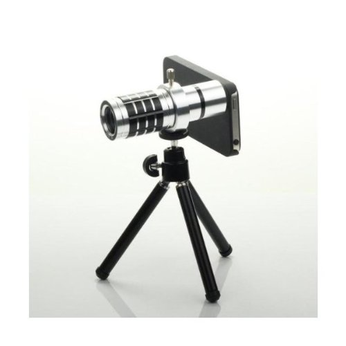 Generic 12x Metal Aluminum Mobile Camera Telephoto Lens for Samsung Galaxy S3 I9300 with Tripod