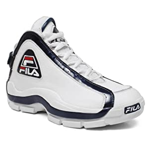 Fila 1VB90031 Men 96 Vintage Basketball Shoes WHT/PCT/CHRED Size 10.5