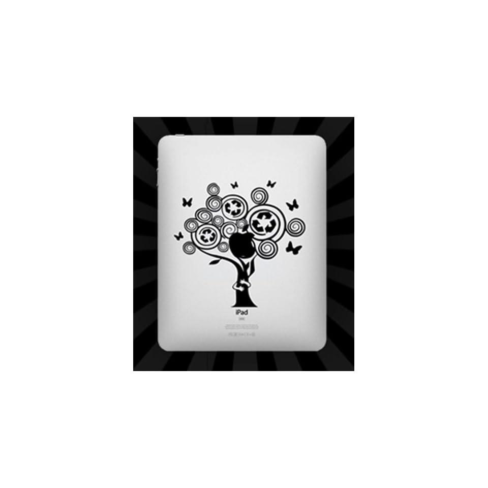 Nine States Matt Black Decal Vinyl Skin Sticker Fits Ipad2/Ipad3/Ipad4 Tree Cell Phones & Accessories