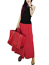 Women Halter Neck Sleeveless Casual Tops w Elastic Waist Long Skirts