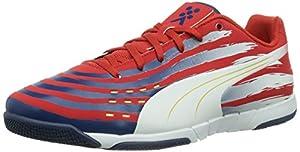 Puma  Trovan Lite, Chaussures indoor homme - Orange - Orange (high risk red-team gold-white-estate blue 08), 37-39 EU (4.5 Herren UK) EU