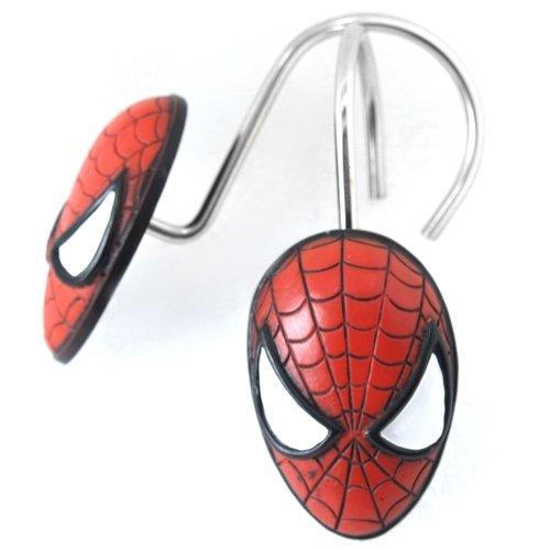 Spiderman Shower Curtain Hooks Set Of 12